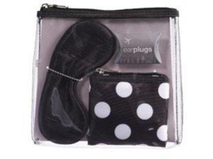 Cvs 4 Piece Travel Kit Earplugs, Eye Mask, Versatile Coin Purse and Clear Clutch