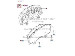 OEM Instrument Panel Clear Light Bulb & Socket Ford Mercury #5F9Z-13B765-AA