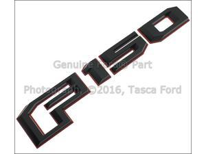 OEM Red & Black Rear Tailgate Emblem Badge 2016 Ford F150