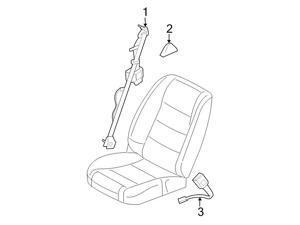 Ford OEM Seat Belt Lap And Shoulder Belt #DR3Z63611B09AA