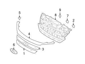 Ford OEM Grille Retainer #6E5Z7850980AAA