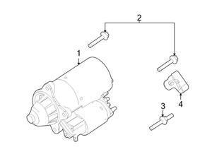 Ford OEM Starter Bolt #W704942S437M