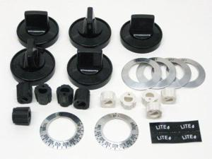 PART # TJKN001 GENUINE SUPCO UNIVERSAL GAS STOVE OVEN RANGE BURNER KNOB KIT : REPLACES PART RK203 AND KN001