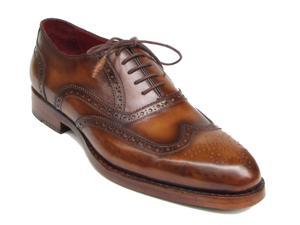Paul Parkman Men's Wingtip Oxford Goodyear Welted Tobacco Shoes (Id#027)