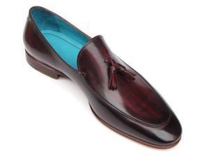 Paul Parkman Men's Tassel Loafer Black & Purple Shoes (Id#049)