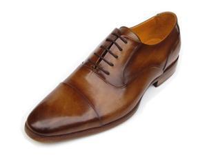 Paul Parkman Men's Captoe Oxfords Brown Leather Shoes (Id#074)