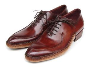 Paul Parkman Men's Side Handsewn Split-Toe Burgundy Oxfords Shoes (Id#054)