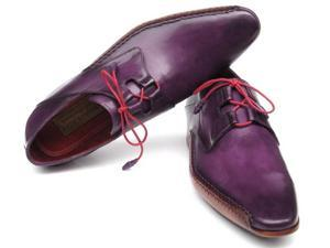 Paul Parkman Men's Ghillie Lacing Side Handsewn Purple Dress Shoes (Id#022)