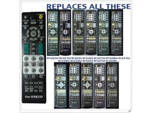 Replacement for Onkyo A/v Receiver Remote Control Rc-682m HTR330 HTR340 HTR340S HTR530 HTR540 HTR550 HTR550S HTR557 HTR940 HTS3100 HTS3100S HTS530 HTS590