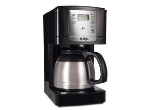 Mr. Coffee® Advanced Brew 8-Cup Programmable Coffee Maker with Thermal Carafe Black/Chrome, JWTX85