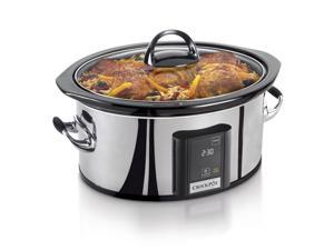 Crock-Pot 6.5-Quart Programmable Slow Cooker, Stainless Steel