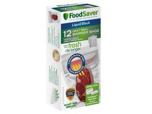 FoodSaver® Liquid Block Vacuum-Seal Quart Bags, 12 Count FSFSBFLB216-000