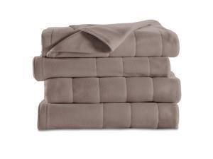 Sunbeam® Twin Quilted Fleece Heated Blanket, Mushroom BRF9HTS-R772-13A44