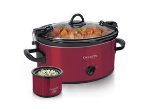 Crock-Pot® 6-Quart Cook & Carry™ Manual Slow Cooker with Little Dipper® Warmer, Red SCCPVL603-R