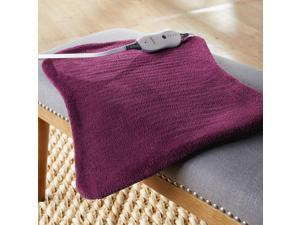 Sunbeam® XpressHeat™ XL Hourglass-Shaped Heating Pad, Eggplant 000829-402-035