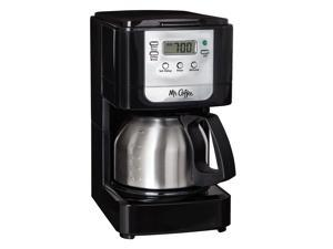 Mr. Coffee Advanced Brew 5-Cup Programmable Coffee Maker with Stainless Steel Carafe Black/Chrome JWX9-RB