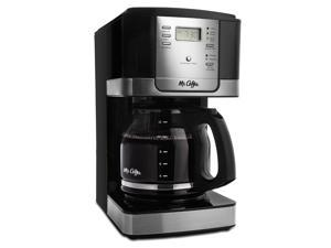 Mr. Coffee Advanced Brew 12-Cup Programmable Coffee Maker, Black/Stainless Steel Accents JWX27-RB