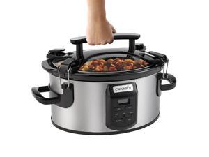 NEW! Crock-Pot Single Hand Cook & Carry® 6-Quart Oval Slow Cooker SCCPVS600ECP-S