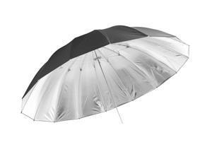 """Large Black / Silver Umbrella - 150 cm/60"""""""