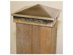 "Nuvo Iron 6""x 6""( 5.5"" x 5.5""posts) Pyramid Aluminium Post Cap PCP03CP COPPER"