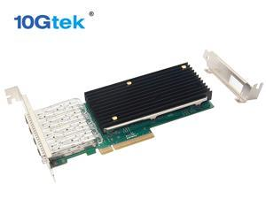 10Gtek for X710-DA4,  Intel 10G Ethernet Converged Network Adapter (CNA), 4x SFP+ Port