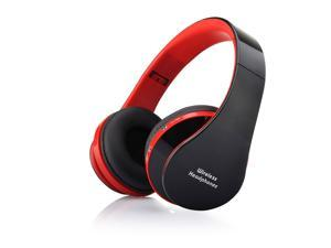 Fordable Wireless Stereo Bluetooth Headphone For iPhone Mobile Cell Phone Laptop (Red)