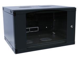 """6U WALL MOUNT IT NETWORK SERVER CABINET 19"""" 450MM DEEP DOOR/PANEL LOCKS"""