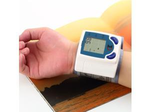 Digital LCD Wrist Blood Pressure Monitor With Heart Beat Rate Pulse Measure  White