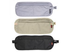 Ultra-Thin Waist Bag Travel Packs Hidden Pockets Personal Outdoor Money Belt Light Khaki