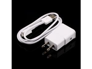 US Plug Wall Charger + USB Data Cable for SamSung Galaxy Note2 II N7100 S4 S3