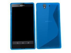 Samrick 'S' Wave Hydro Gel Protective Case for Sony Xperia Z C6602/C6603/Xperia Z LTE - Blue