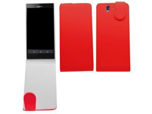 Samrick Specially Designed Leather Flip Case for Sony Xperia Z/C6602/C6603/Xperia Z LTE - Red
