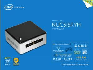 Intel Mini PC NUC, 5Th Gen Intel Core i5 up to 2.7Ghz, 16Gb DDR3, 1Tb Solid State Hybrid Drive, Wi-Fi, Bluetooth 4.0, with Power Adapter, Windows 10 Pro