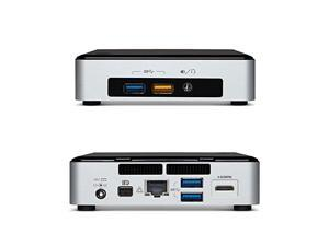 Intel NUC Desktop/HTPC, 5th Generation Intel Dual-Core i5, 4Gb DDR3, 120GB SSD, WIFI + Bluetooth, 4k Support, Dual monitor Capable, Windows 7 Professional 64Bit