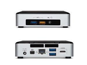 Intel Nuc Desktop/HTPC, 5th Generation Intel Dual-Core i3, 8GB DDR3, 120GB SSD M.2 Sata, Wifi, Bluetooth, 4K Support, Windows 7 Professional 64Bit