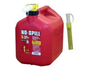 No Spill 1450 5 Gallon Red Gas Can with No Fill Nozzle Assembly and 0206 Gas Can Extension Tube