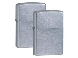 RONSON Zippo 207/CS Brushed Chrome Pocket Lighter 2 pack