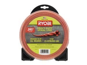 Ryobi AC04148 0.095 in. x 110 ft. Heavy Duty Spiral Gas Trimmer Line 110 ft.