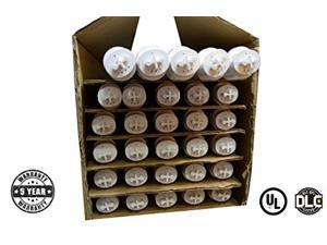 4ft 18W VersaT8 LED Tube - Ballast Compatible or Bypass - (UL+DLC) 30 Pack - 5000K - Clear