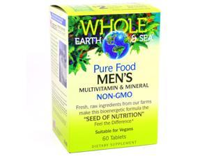 Pure Food Men's Multivitamin By Natural Factors Whole Earth and Sea - 60 Tablets