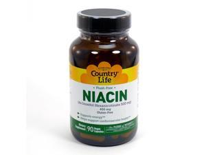Flush Free Niacin 500 mg by Country Life 90 Capsules