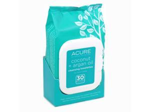 Coconut and Argan Oil Towlettes By Acure - 30 Towelettes