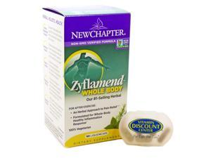 Bundle 2 Items 1 Zyflamend Whole Body By New Chapter - 180 Vcaps & 1 Pill Box