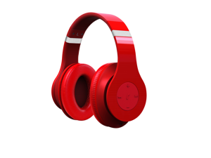 Fuji Labs Red AUFJ-W-HD2000-RE Bluetooth Wireless HD2000 Professional Stereo Headphones