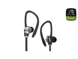 Fuji Labs Black AUFJ-SQWBS306BK-E Sonique SQ306 Eco-Line Premium Beryllium Driver In-Ear Headphones with In-Line Microphone