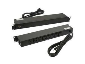 "Fuji Labs 19"" Rackmount 8-Outlet PDU Metal Case with 6Ft Power Cord 15A (12A UL)"