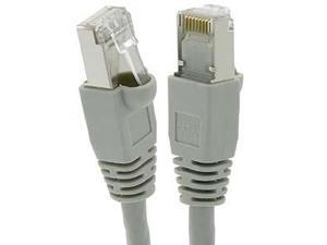 Fuji Labs 2Ft Cat5E STP Ethernet Network Booted Cable Gray