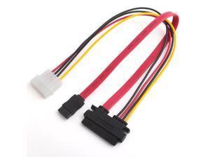 70CM 6Gb/s SATA3 15pin to SATA 7pin +IDE Molex 4Pin Power / Data Combo Cable for PC SATA 3.0 SATAIII 6Gbps Hard Drive Disk,SSD