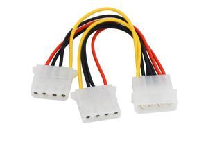 18AWG 8 inches Computer Power Supply IDE 4-pin Molex LP4 Male to 2 x Female Splitter Power Cable Cord,Hard Drive Disk HDD DVD CD