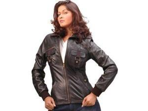 Womens Classic Sheep Leather Straight Jacket